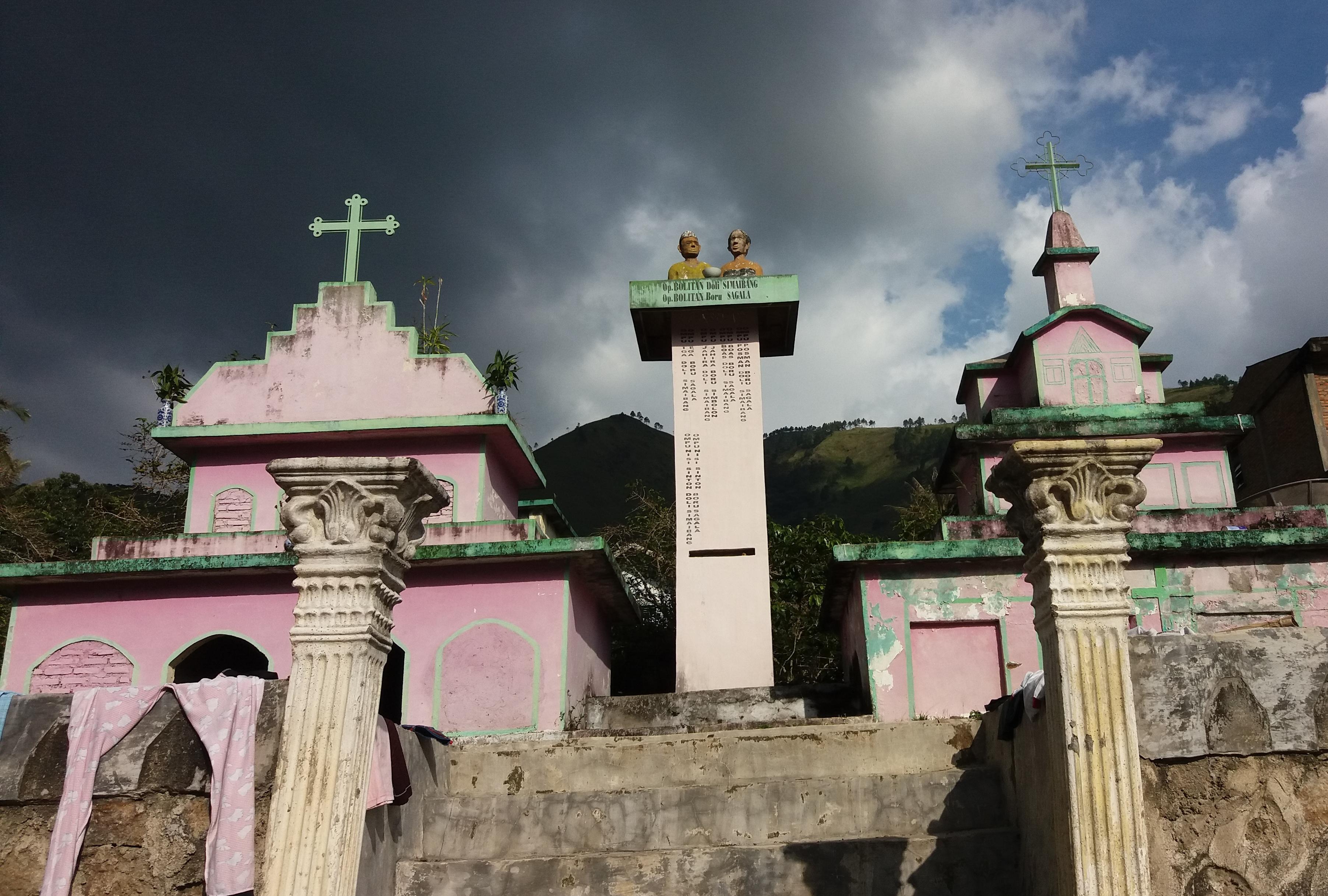 křesťanské kostely okolo Lake Toba