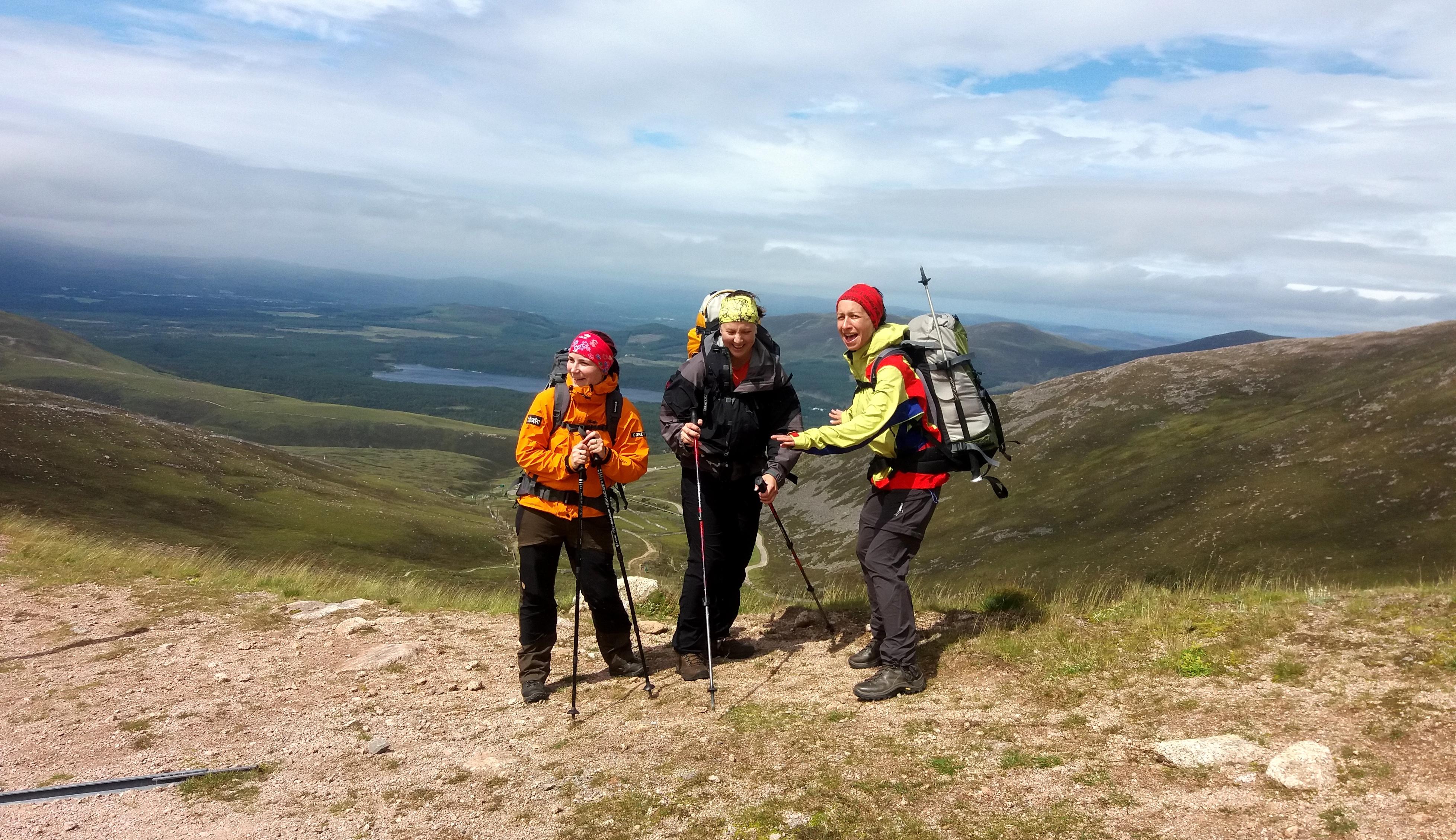 cestou na vrchol Cairn Gorm 1244 m