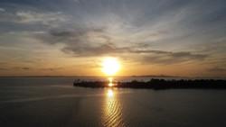 Západ slunce nad P