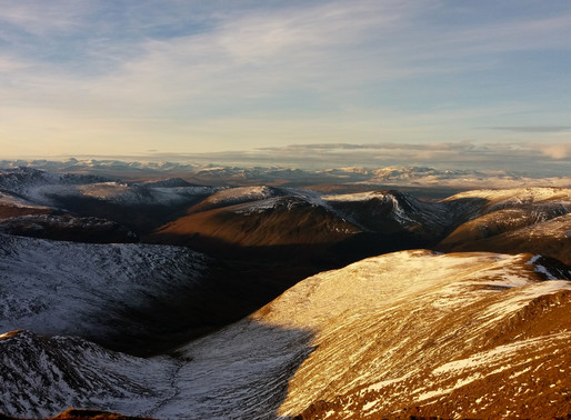 Meall Garbh (1118 m) a Meall Greigh (1001 m)