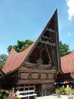 tradiční domy Batak kultury