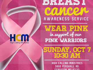 Breast Cancer Awareness Service - Supporting Our Pink Warriors