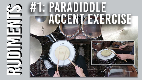 Rudiments: Paradiddle Accent Exercise