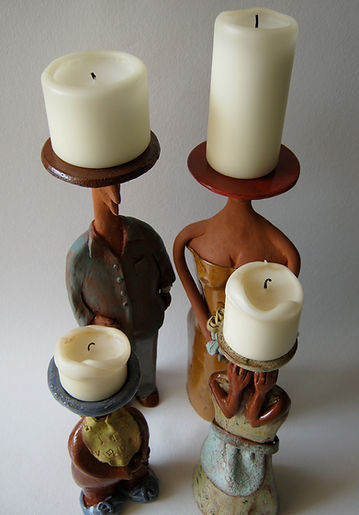 Candle Family of Four