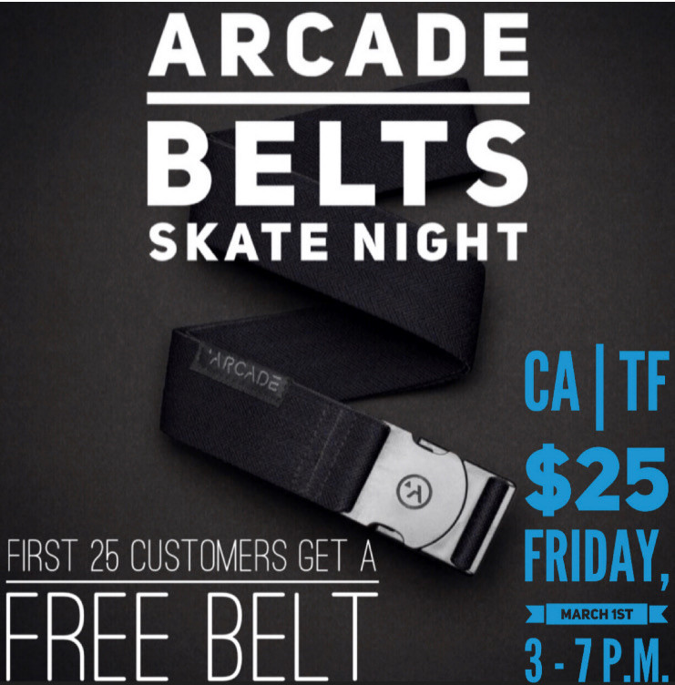 Make sure to come to the park early in order to get a free belt before they are all out.