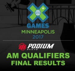 Podium Skate | X Games Am Results