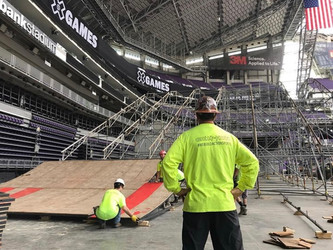 JT & CREW DOING WHAT THEY DO BEST, BUILD ACTION SPORTS. X-GAMES 2019 AUGUST 1-4