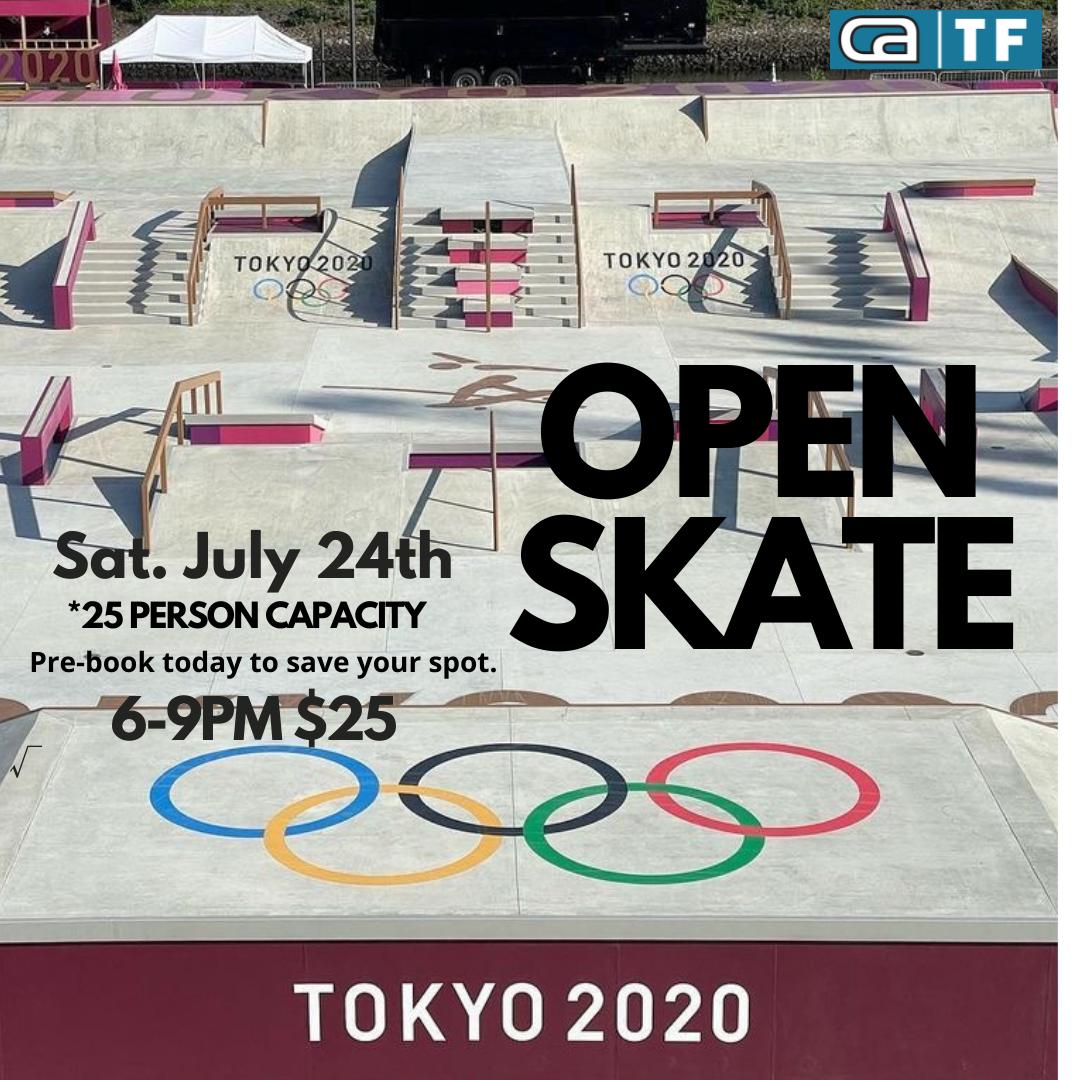 Open Skate SAT July 24th