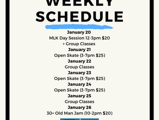 CA|TF Schedule | January 20-26