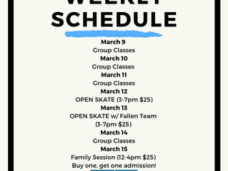 CA|TF Schedule | March 9-15