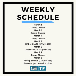 CA|TF Schedule | March 2-8