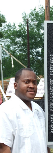 Terrence Watson (SPSF Alumni Scholar) at the Texas State Historical Marker dedication in Caney City, Texas 2009