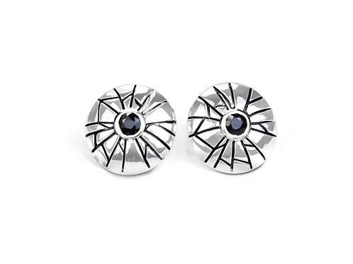 Sterling Silver Mini Shattered Time Earrings