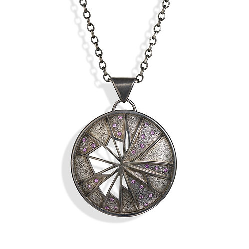 The Oxidised Sterling Silver Fractured Time Pendant