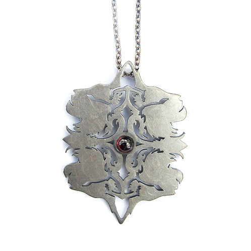 Sterling silver Lynx pendant