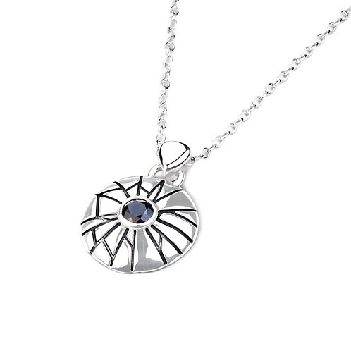 Sterling Silver Mini Shattered Time Pendant