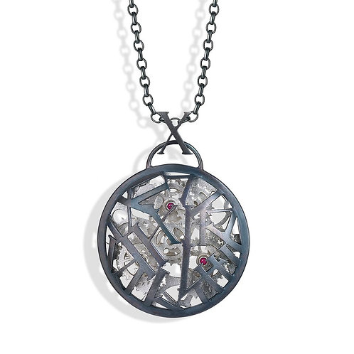 The Sterling silver Changing Time pendant