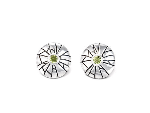 Sterling Silver Mini Shattered Time Earrings