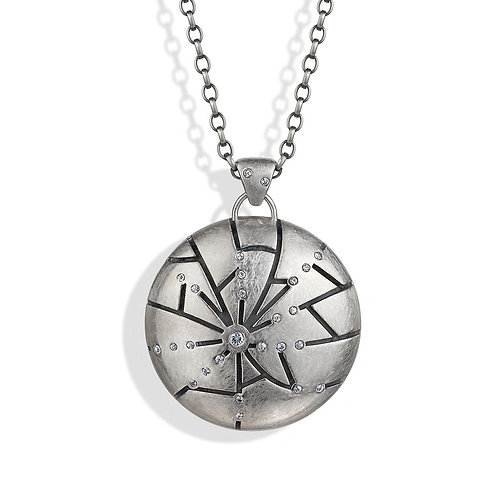 The Sterling Silver Shattered Time Pendant