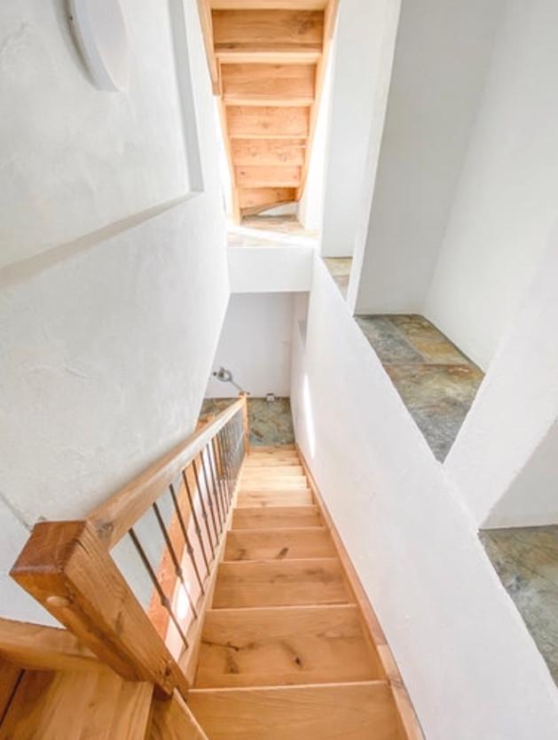 Treppe im Haus, Casa Bellavista Isola, ihr Ferienwohnung im Engadin