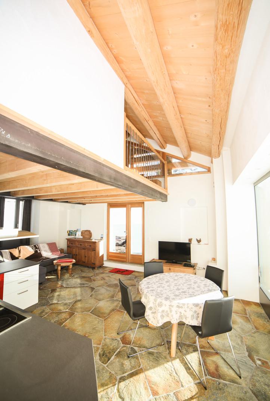 Wohnzimmer Casa Bellavista Isola, ihr Ferienwohnung im Engadin