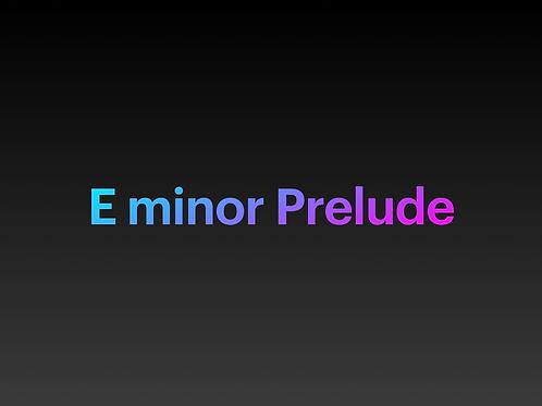 E minor Prelude (Chopin)