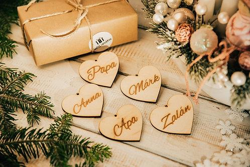 Karácsonyfa Dísz Szívecske