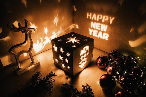 WoodyBox Santa Happy New Year