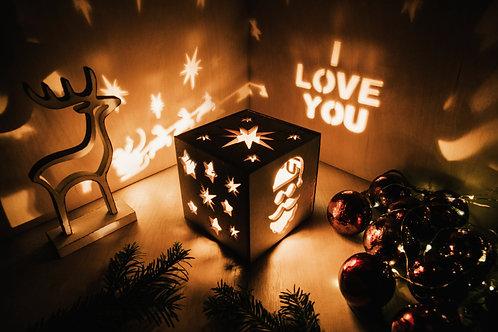 WoodyBox Santa I Love U