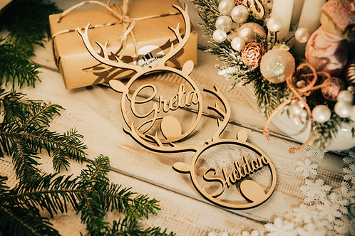 Prémium Karácsonyfa Dísz 2 Szarvasfej