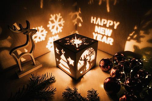 WoodyBox Deer Happy New Year