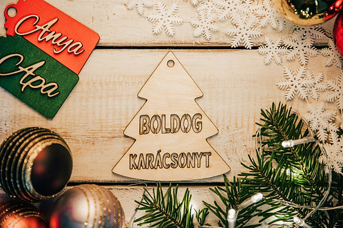 Prémium Karácsonyfa Dísz Fenyő