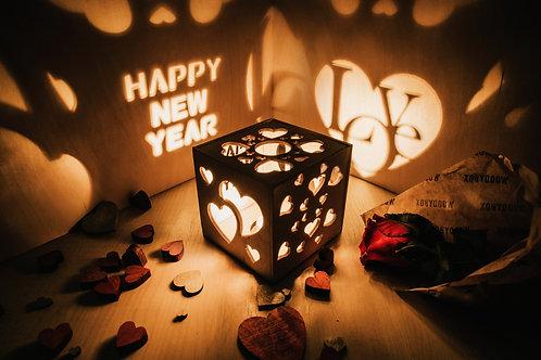 WoodyBox Love Happy New Year