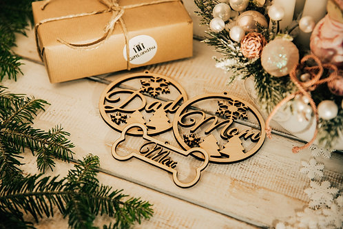 Prémium Karácsonyfa Dísz Kutya és Gazdik