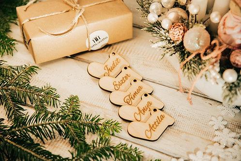 Karácsonyfa Dísz Zokni