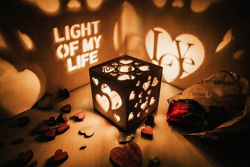 WoodyBox Love Light
