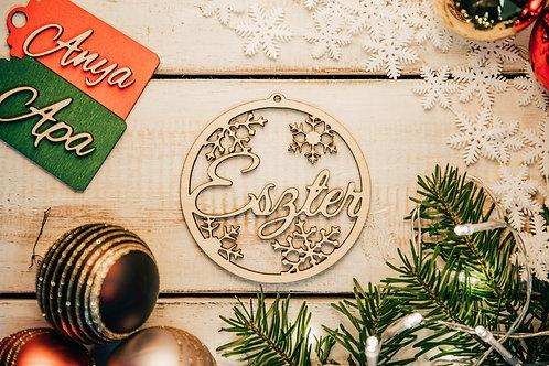 Prémium Karácsonyfa Dísz Hópehely