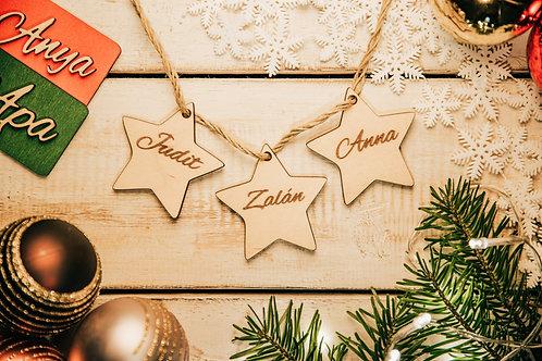 Karácsonyfa Dísz Csillag 3