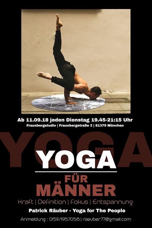 """Gutschein für 3 Stunden """"Yoga für Männer"""""""