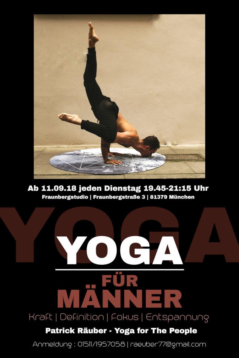 """Teilnahme an """"Yoga für Männer"""" Stunde"""