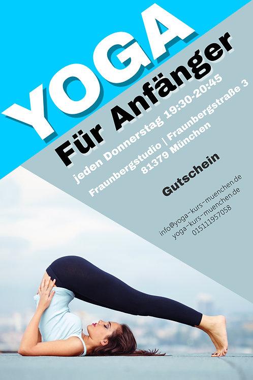"""Gutschein für 2 Stunden """"Hatha Yoga für Anfänger"""""""