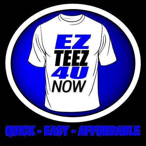 1 dozen shirts front and back print
