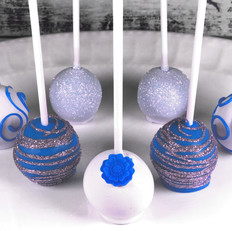 Blue Swirl Cake Pops