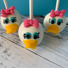 Daisy Duck Cake Pops