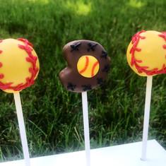 Softball Cake Pops