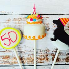 50th Birthday Cake Pops