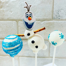 Frozen Olaf Cake Pops