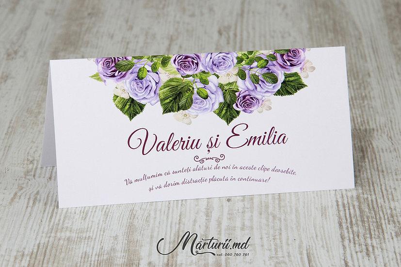 PC-021 Plic pentru bani cu flori violet