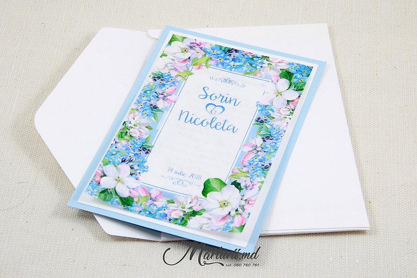 IN-019 Blue flowers
