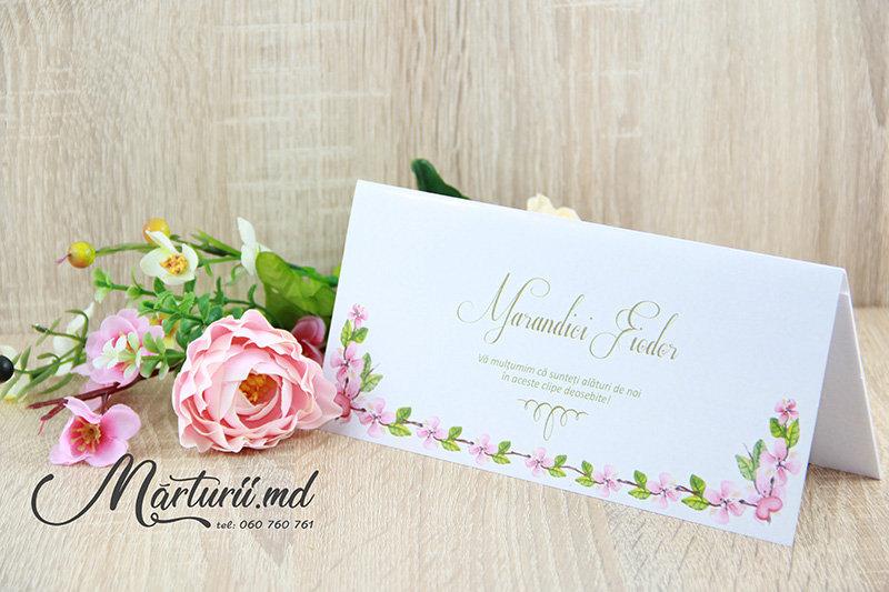 PC-007 Plic cu flori roz pentru bani la nunta sau cumetrie
